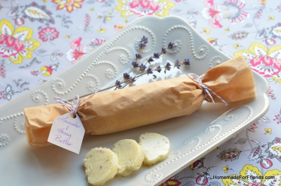 Lavender and honey adds a sweet and floral take to traditional butter.