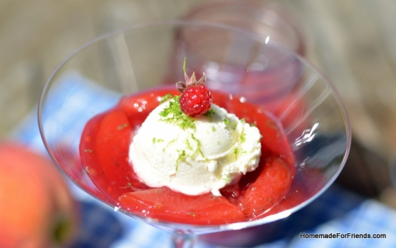 Peach Melba Sauce pairs great with Ice Cream!