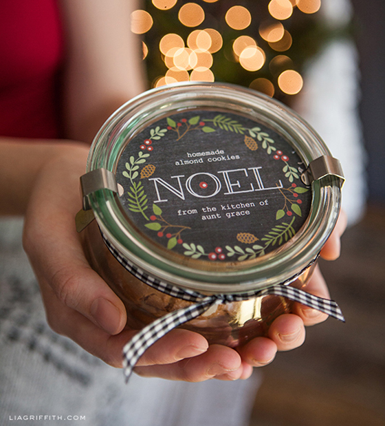 Holiday gift labels by Lia Griffith.