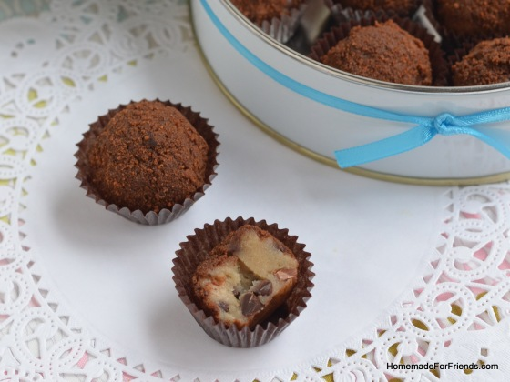 Make this gift a little more fancy by going the extra mile and placing each truffle in a mini-cupcake liner...people won't believe you made them!