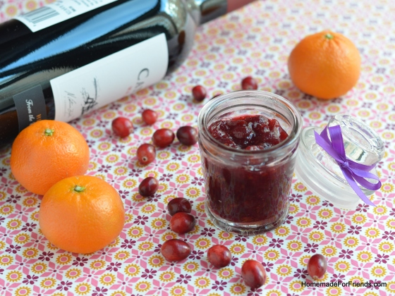 The wine, oranges and spices will add a subtle yet delicious twist on a traditional cranberry sauce.
