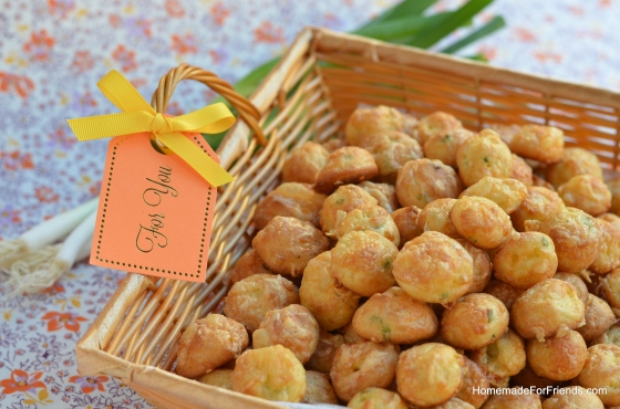 "Scallion Gougères would make the perfect gift for the ""petit choux's"" in your life."