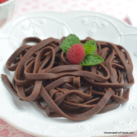 "These strands of chocolatety awesomeness are so decadent, that had Marie Antoinette been Italian, she probably would have said ""Let them eat chocolate noodles!"" (and then lived happily ever after because everyone agreed!)."