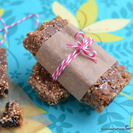Wrap these protein bars up for a quick and easy snack on the go!