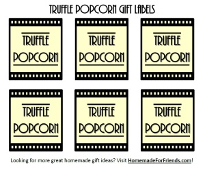 Free Labels for your Truffle Popcorn!