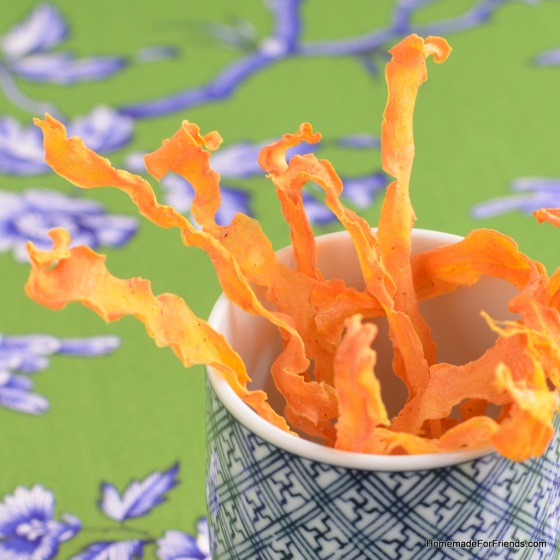 Homemade Carrot Curl Chips