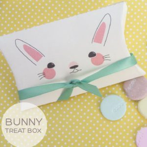 Easter Bunny Treat Box by templateofabox.com