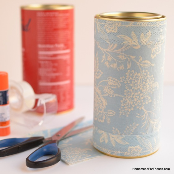 DIY Recycled Storage Containers