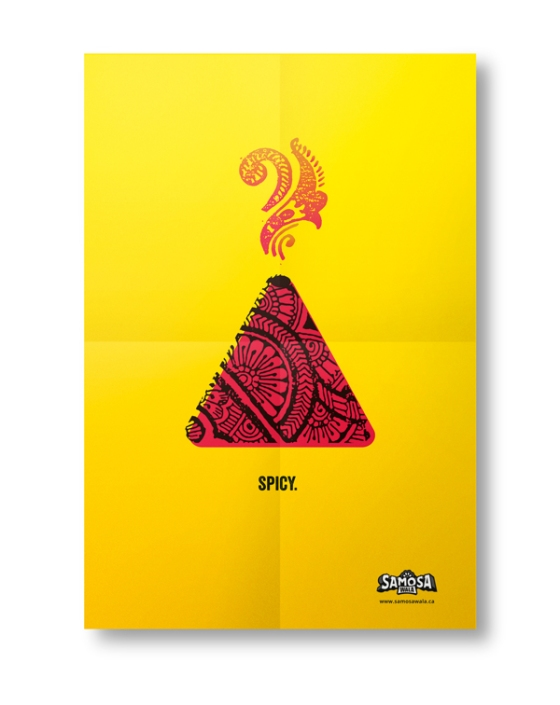 The SamosaWala design concept, by Mustaali Raj.