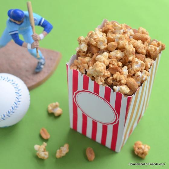 Homemade Cracker Jack (Caramel Popcorn Mix)